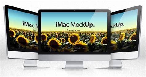 iMac Psd Mockup Template   Psd Mock Up Templates   Pixeden
