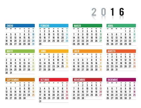 fechas de recategorizacin monotributo 2016 calendario 2016 1 imagenes educativas
