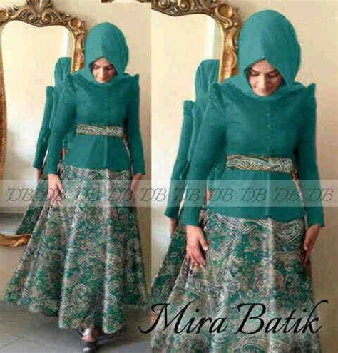 Maxi Dress Gamis Cellina Hijau Tosca Green 30 model baju batik muslim terbaru 2018