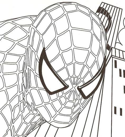 spiderman head coloring page black and white spiderman head www imgkid com the