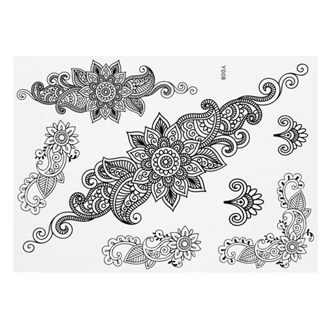 henna lace tattoo design 1pc white henna ink lace temporary flash