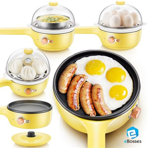 Electrik Frying Pan Multi Fuction electric frying pan multi function boiled steamed egg machine with automatic power