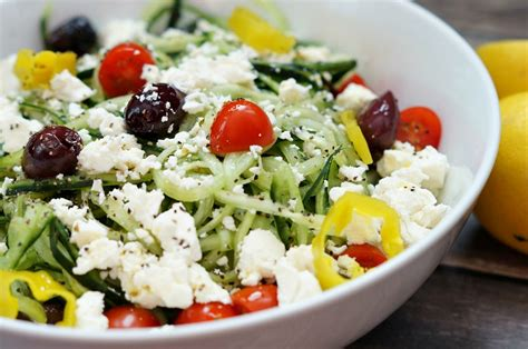 greek salads spiralized greek salad old house to new home