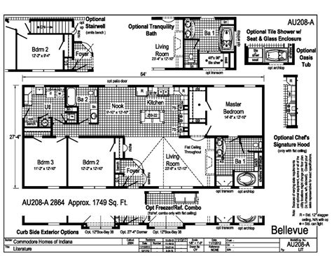 commodore homes floor plans aurora classic ranch modular bellevue au208a find a