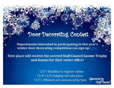 office holiday decorating contest flyer winter door decorating contest myhumboldt message center humboldt state