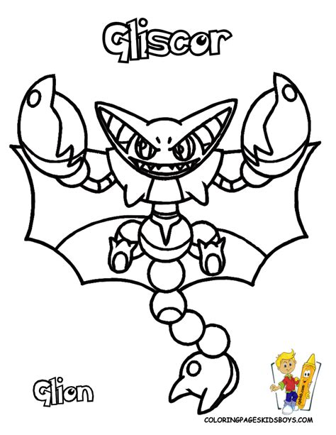 pokemon coloring pages rhyperior pokemen coloring pages of gliscor