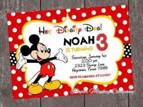 mickey mouse birthday invitations templates