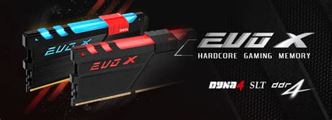Geil Ddr4 Evo X Rgb Led Pc19200 Dual Channel 32gb 2x16gb 16 16 16 1 ddr4 evo x dual channel kit products geil memory