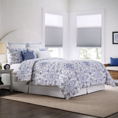 real simple comforter real simple lisbon reversible duvet cover set in blue