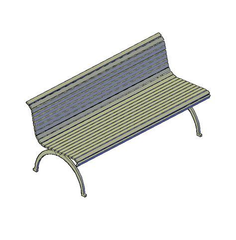 park bench cad block park bench 3d dwg cadblocksfree cad blocks free