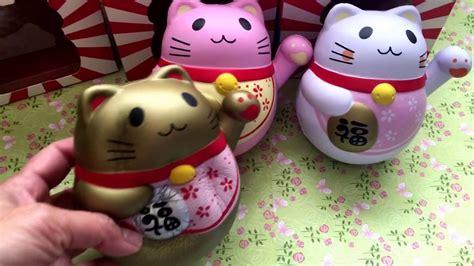 Squishy Manekineko chawa maneki neko lucky cat squishies