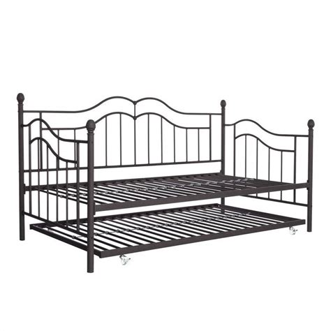 Metal Frame Daybed The Metal Frame Daybed And Trundle In In Brown 4008959