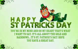 patricks day sayings wishes