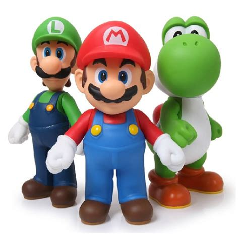 Mario Figure Isi 6 Fig 0630 aliexpress buy 3pcs lot mario bros luigi mario figure pvc mario figure