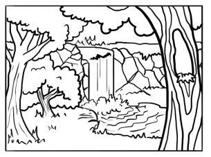 Printable Forest Coloring Sheets Forest Coloring Pages Printable
