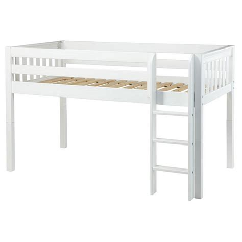 low loft twin bed low loft bed twin straight ladder 3 finishes