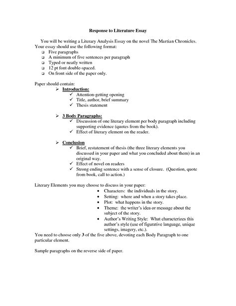 essay structure literature what is a literary response essay literary analysis