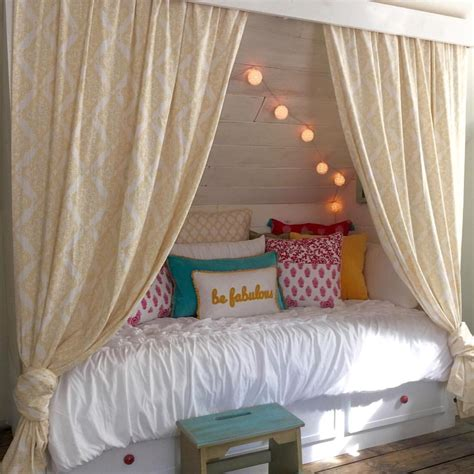 Remodelaholic Beautiful Built In Bed Nook with Storage Drawers