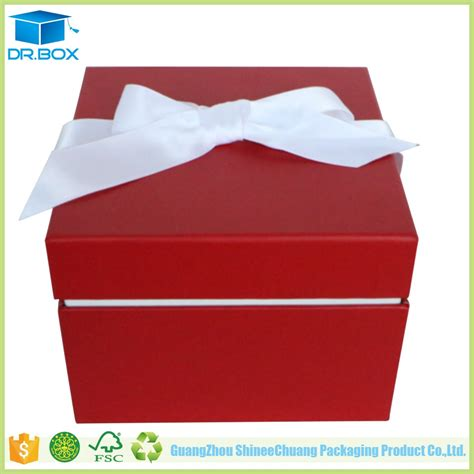 tie gift boxes wholesale ribbon bow tie embossed logo printing paper cardboard gift
