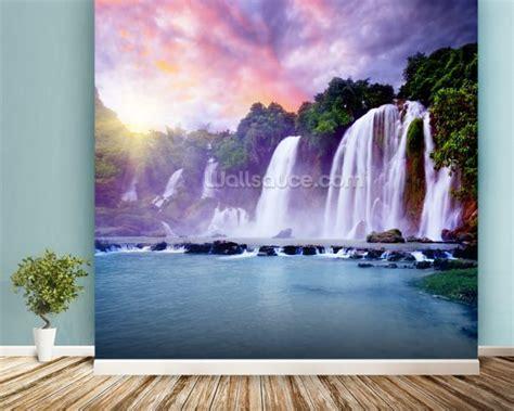 waterfall wall murals banyue waterfall wallpaper wall mural wallsauce