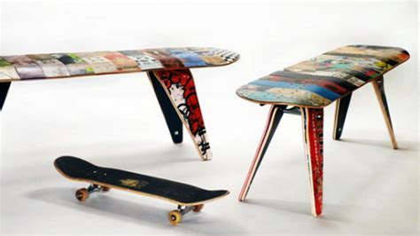 skateboard furniture unique deck stools and deckbenches made of recycled