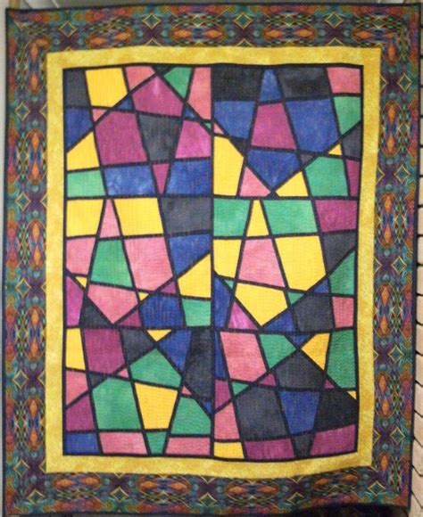 Stained Glass Patchwork Patterns - 21 best images about stained glass quilts on