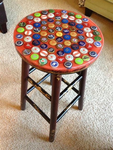 Bottle Cap Table And Stool Set by 25 Best Images About Cap Table And Coaster Ideas On