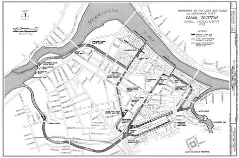 map lowell ma file canal system in lowell massachusetts jpg wikimedia