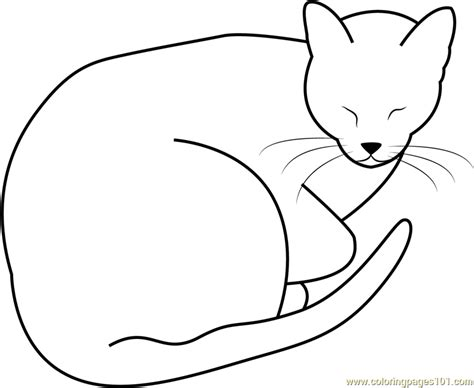 sleeping fat cat by jedijaruto coloring page free cat