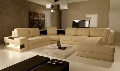 contemporary modern living room furniture modern living room with brown color dands