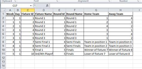 21 Images Of Fixture Template Gieday Com Fixture Schedule Template