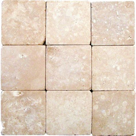 1 ft travertine floor ms international durango 4 in x 4 in tumbled travertine