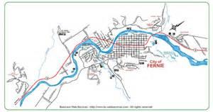 map of fernie bc canada