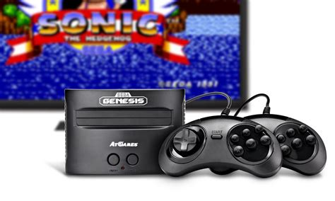 sega genesis console updated atgames unveils new lineup of classic gaming
