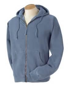 blue jean comfort colors comfort colors c1563 zip hooded sweatshirt