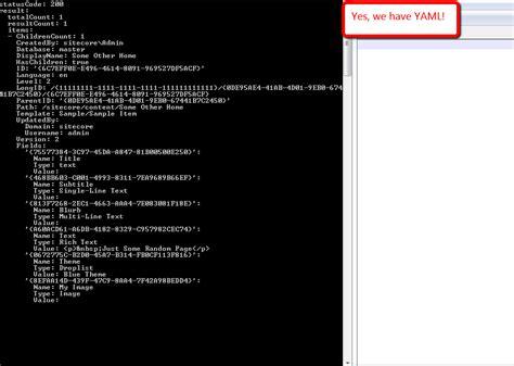 format yaml sitecore item web api 171 sitecorejunkie com