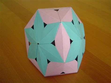 origami tetrahedron modular origami balls and polyhedra folded by michał