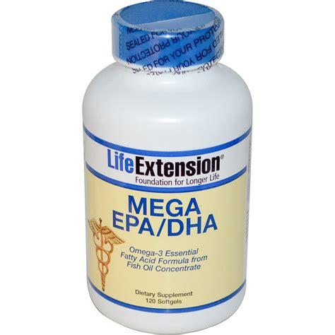 supplement dha extension mega epa dha 120 softgels iherb