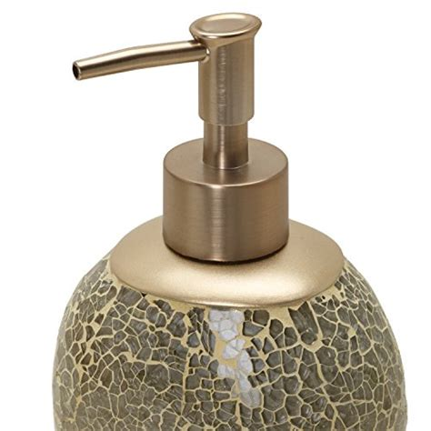 Zenna Home India Ink Huntington Lotion Or Soap Dispenser Cracked Glass Bathroom Accessories