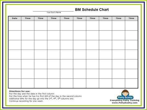 one schedule potty in one day 183 free potty charts