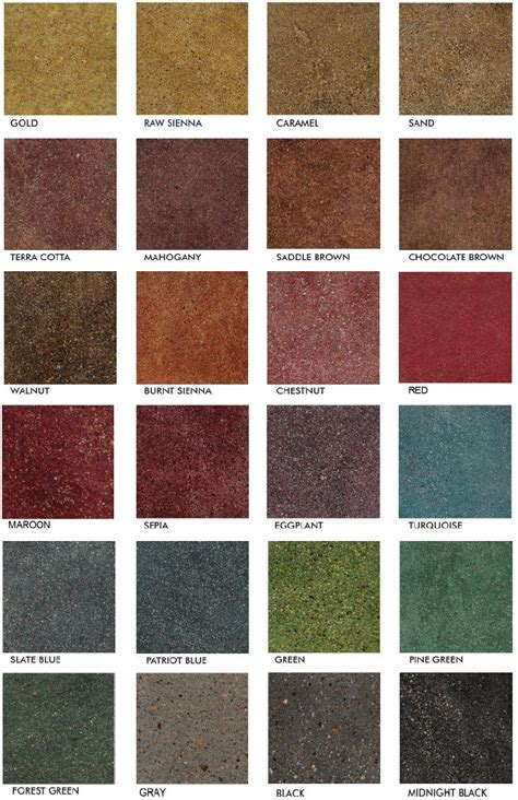 Stained Polished Concrete Color Chart   Glossy Floors