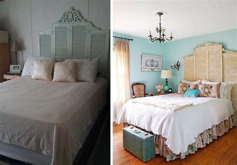 headboard made from shutters shabby chic decorating with salvaged shutters brewster home