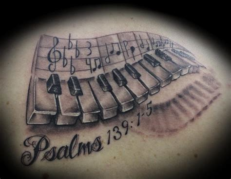 piano tattoos designs memorable piano design with date and name
