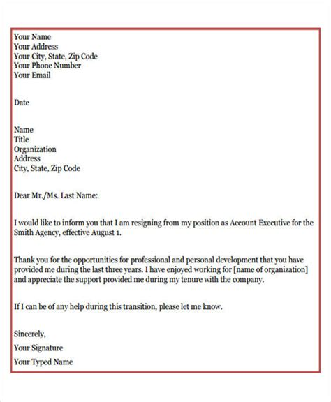 Resignation Letter Expressing Gratitude by 7 Sle Company Resignation Letters Free Sle Exle Format