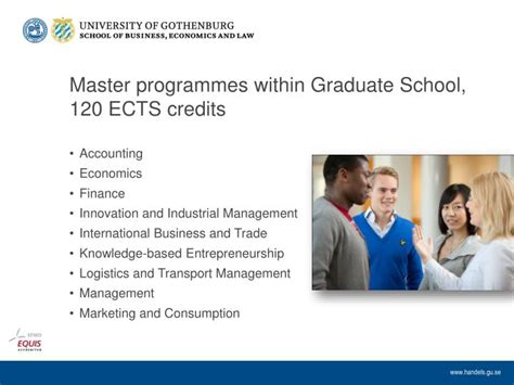 Mba Credits Ects by Ppt School Of Business Economics And At The