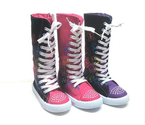 new mid calf high top canvas boots tennis shoes sz 10 4 three clrs ebay