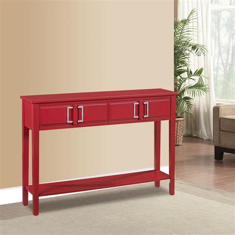 red sofa table red sofa table ski furniture red storage console table ds