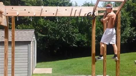 backyard ninja warrior course entire ninja warrior course completed youtube