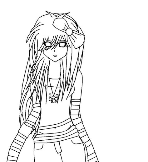 coloring pages emo love cute emo anime coloring pages