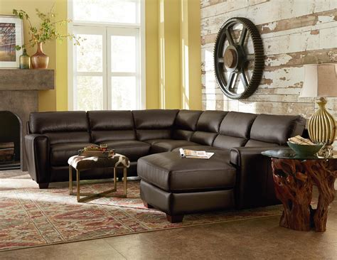 la z boy chaise sofa la z boy brody three contemporary leather sectional sofa with raf chaise conlin s